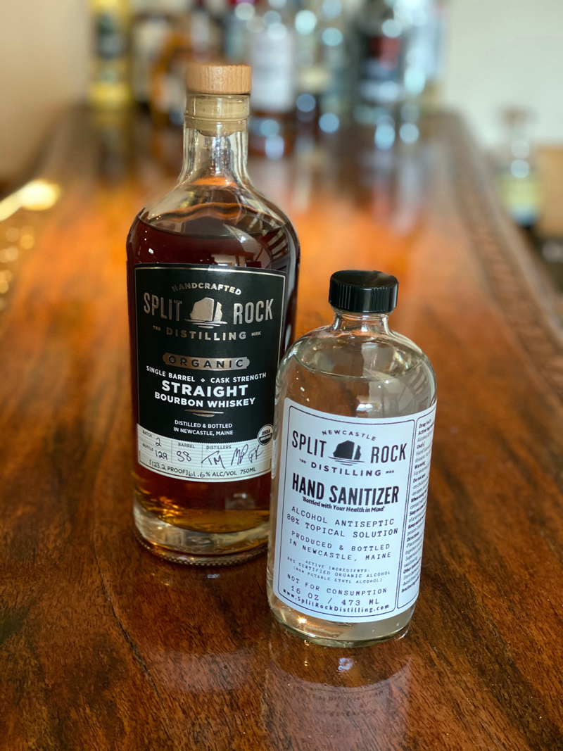 Split Rock Distillery begins production on hand sanitizer to support local healthcare workers and service industry members. The first batch sold out in one day.