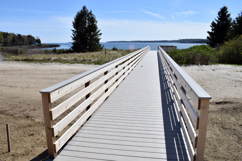 The boardwalk at Pemaquid Beach Park affords easier access to the beach, especially for visitors with mobility issues. (Evan Houk photo)