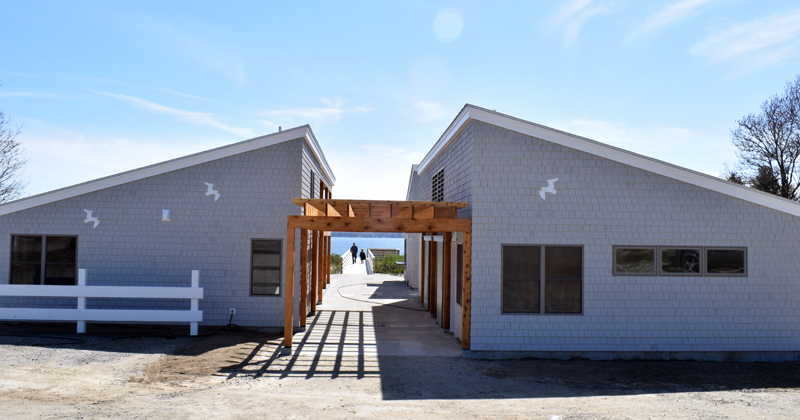 The new Pemaquid Beach Pavilion on Tuesday, May 19. (Evan Houk photo)