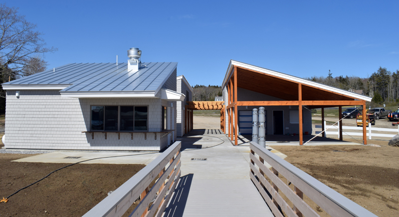A view of the new Pemaquid Beach Pavilion from the boardwalk, Tuesday, May 19. (Evan Houk photo)