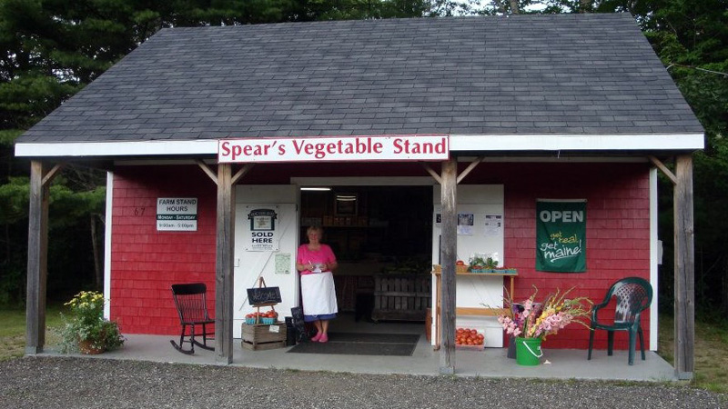 Barbara Chubbuck at Spear's Vegetable Stand in Nobleboro. She was a baker and clerk at the stand for at least a decade of summers.