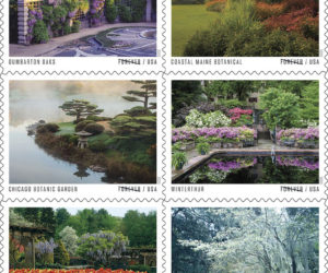 The Coastal Maine Botanical Gardens feature prominently in a new line of U.S. Postal Service stamps.