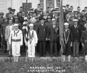 A Memorial Day 1931 celebration in Damariscotta. This historical society is asking readers to help identify any individual in the photo.