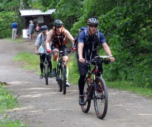 Mountain bikers compete in a race at Hidden Valley Nature Center in Jefferson. (LCN file photo)