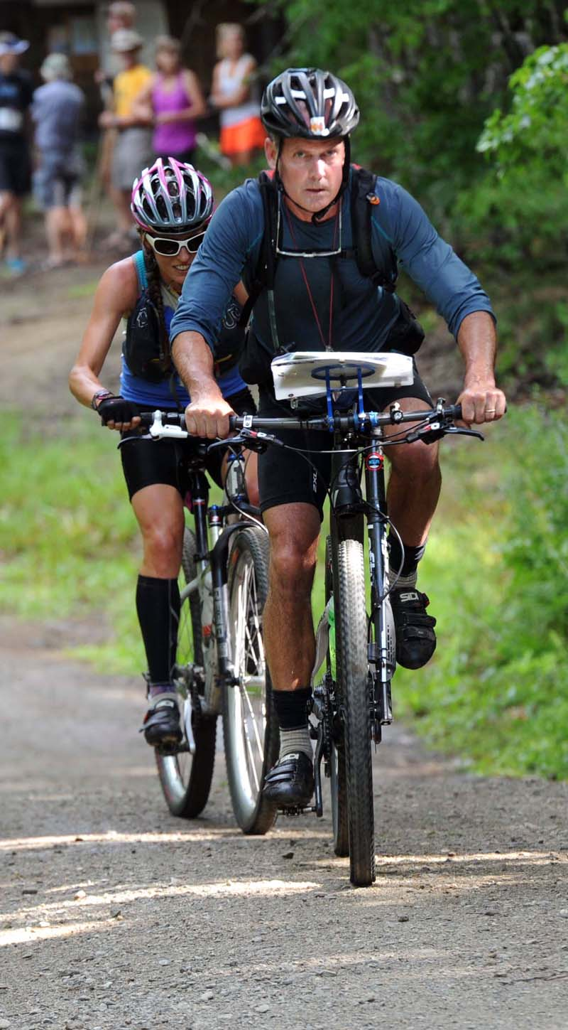 Mountain bikers ride out of Hidden Valley Nature Center in Jefferson during a 2016 race. (LCN file photo)