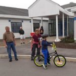 BCS Students Pick Up Bikes
