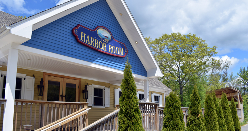 The entrance to The Harbor Room in New Harbor. New owner Cary Myles hopes to reopen the restaurant by late June or early July. (Evan Houk photo)