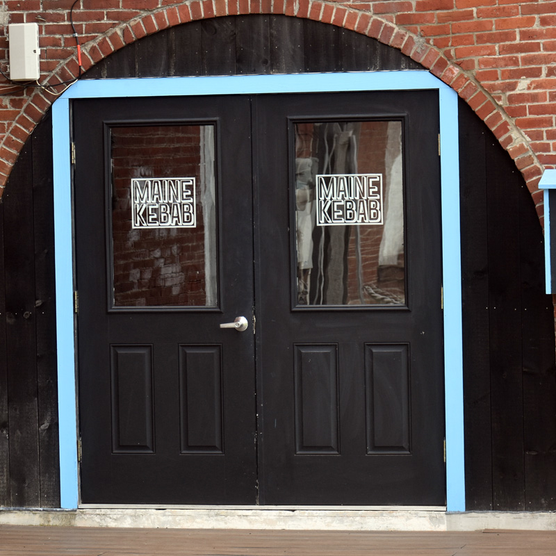 The entrance to Maine Kebab, on the back side of 9 Friendship St. in Waldoboro. The restaurant plans to open soon after the Fourth of July. (Alexander Violo photo)