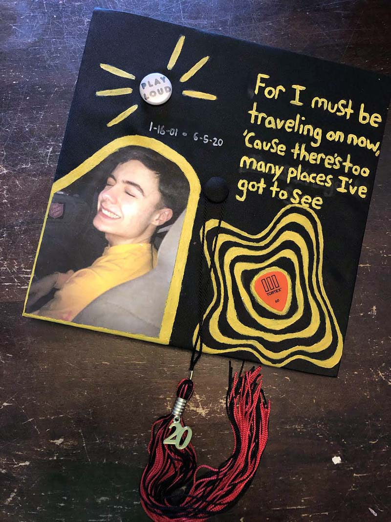 Maddie McLean dedicated her graduation cap to her late brother, Connor McLean. (Photo courtesy Elizabeth MacKenney)