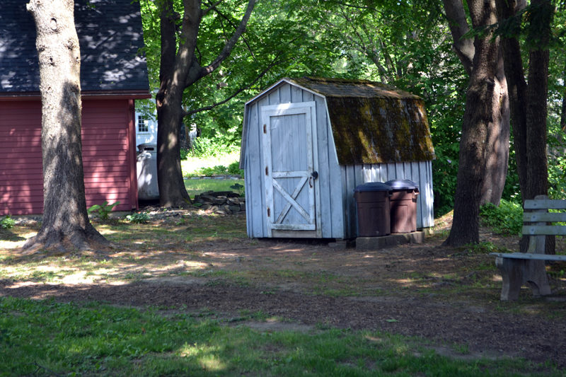 The town of Wiscasset will seek legal advice about whether a shed can remain on the Sunken Garden property. (Charlotte Boynton photo)