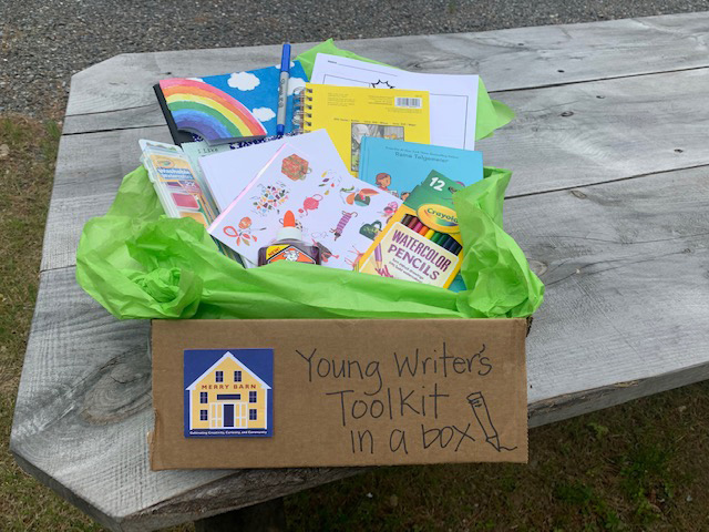 The young writer's toolkit for campers includes fun materials for writing and creating.