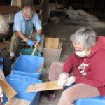 Pemaquid Mill Volunteers Prepare Shingles