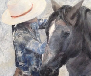 """Adjusting the Halter"" by Beth Badger"
