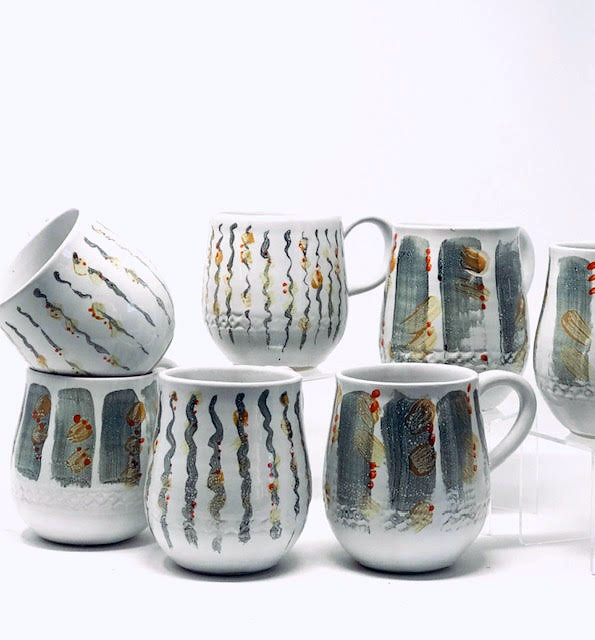 Proceeds from handmade mugs designed by South Bristol potter Alexsondra Tomasulo are being donated to Veggies to Table.
