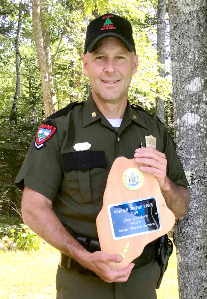 Joey Lefebvre has been named the Maine Warden Service 2019 Warden of the Year. He has been a warden for 25 years. (Photo courtesy Renee Thivierge)
