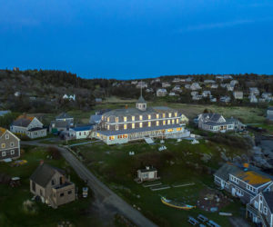 A view of The Island Inn and Monhegan's village from above. The coronavirus has meant fewer visitors and lower sales for the island's tourist-dependent businesses. (Photo courtesy The Island Inn/Frances Gagne Photography)