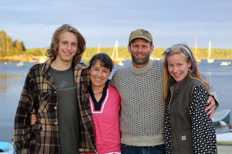 Essie Martin with her brother and parents. From left: Jojo Martin, Jenny Mayher, Garrett Martin, and Essie Martin. (Photo courtesy Essie Martin)