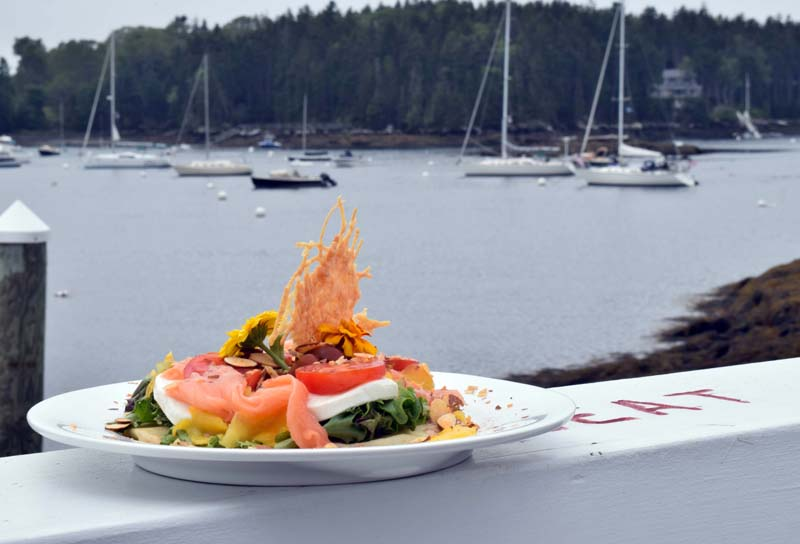 The Coveside Salmon Salad is one of head chef Doris Rodriguez's signature dishes. (Evan Houk photo)