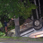 One Hurt in Wiscasset Rollover
