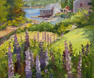 """Round Pond Lupine,"" oil on canvas, by Jan Kilburn."