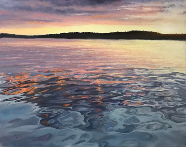 """""""Calm Waters at Sunset"""" by Carol Ast, pastels"""