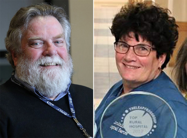 Dr. Russell Mack and registered nurse Karen Howell will retire from LincolnHealth on Friday, July 24.
