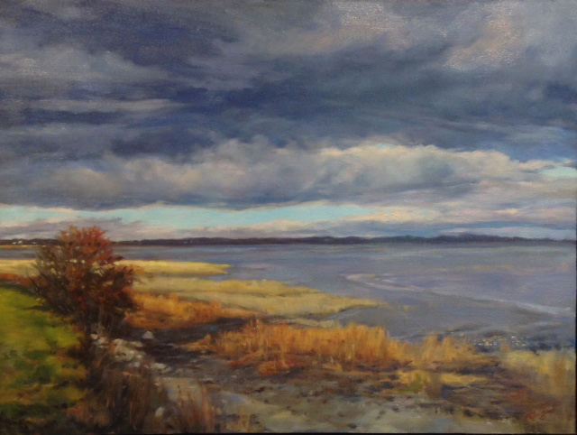 An oil painting by artist Mary Buergin.