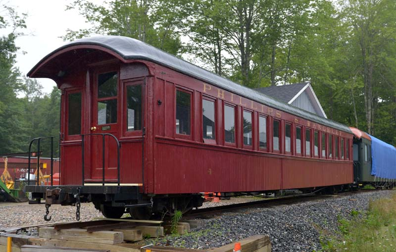 Car No. 4 is being restored at the Wiscasset, Waterville & Farmington Railway Museum in Alna. (Paula Roberts photo)