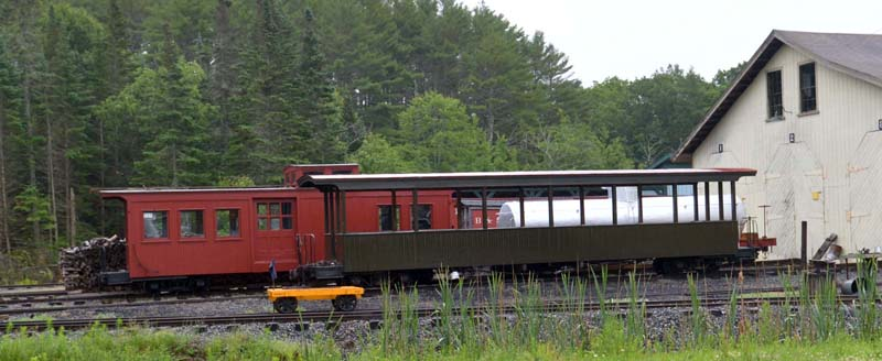 Cars at the Wiscasset, Waterville & Farmington Railway Museum include a tanker car that was rebuilt by the museum. It is one of only two 2-footer tank cars in existence. (Paula Roberts photo)