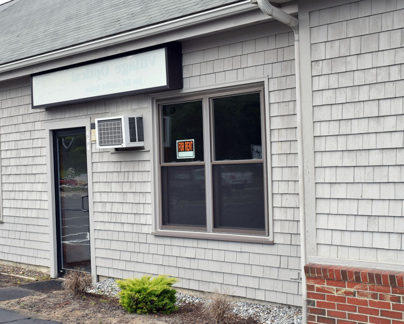 The space in Main Street Centre where two Bremen residents propose to open Damariscotta's second medical cannabis storefront. The Damariscotta Planning Board will hold a site visit at 4 p.m., Tuesday, Aug. 11. (Evan Houk photo)