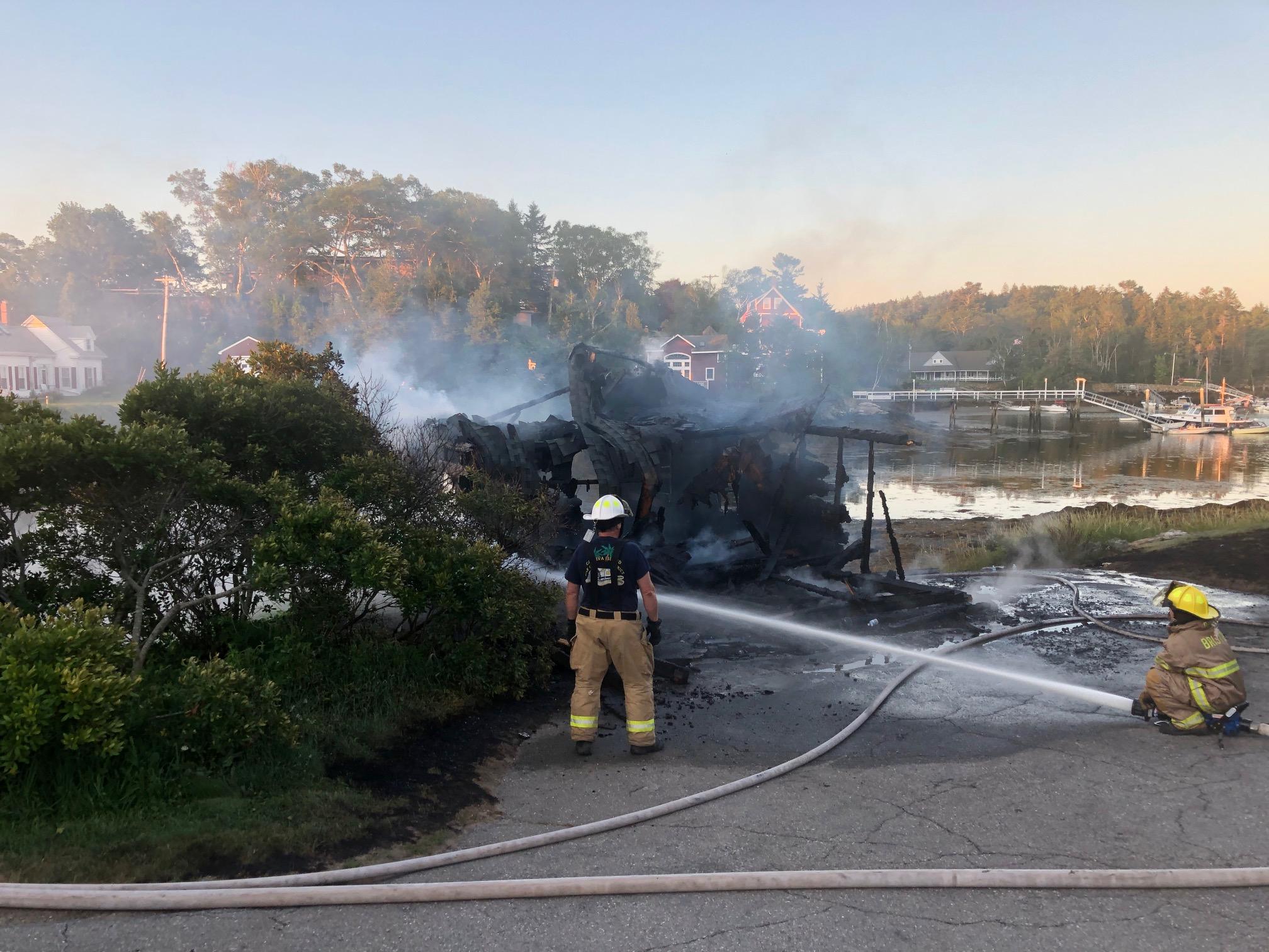 Christmas Bristol County 2020 Barn Burns Down in Christmas Cove   The Lincoln County News