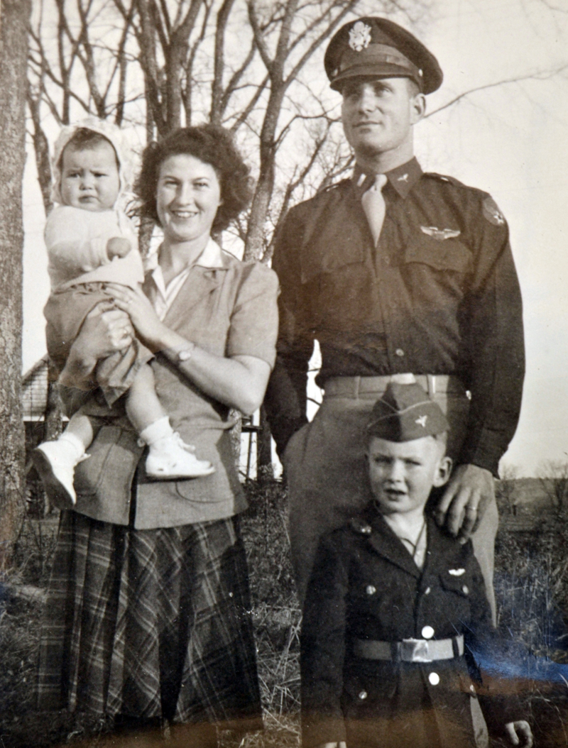 Lowell F. Simmons with his wife, Flora, and their children, Lowell S. and Marilyn. (Photo courtesy Vicki Nichols)