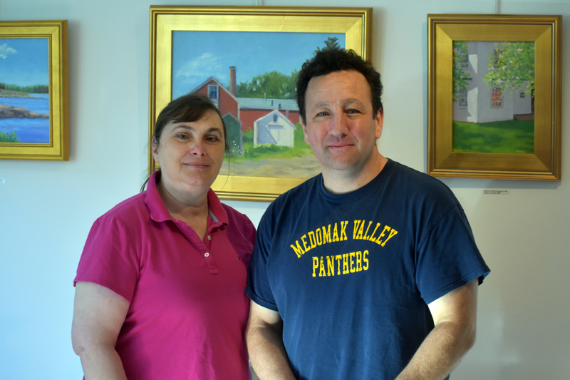 Vikki Bell and Dan Martone own and operate the new Broad Bay Cafe in Waldoboro village. (Alexander Violo photo)