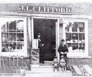 The J.L. Clifford store, on Main Street in Damariscotta, is believed to be the meeting place where Jimmy Dray would dance Irish reels and jigs. (Photo courtesy Newcastle Historical Society Museum)