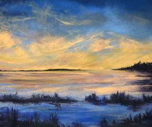 """Sunset on the Eddy"" by Kim Skillin Traina."