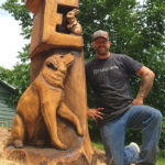 Carver Transforms Dead Tree into Something Beautiful in Wiscasset