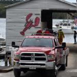 Firefighters Battle Brush Fire on Bremen Long Island