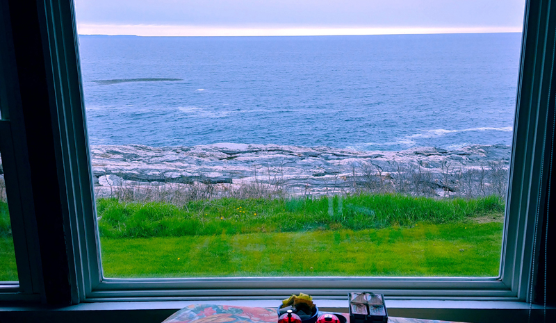 A view from inside the Seagull Shop at Pemaquid Point. The iconic restaurant and gift shop burned down Wednesday, Sept. 9. (Photo courtesy Tim Norland)