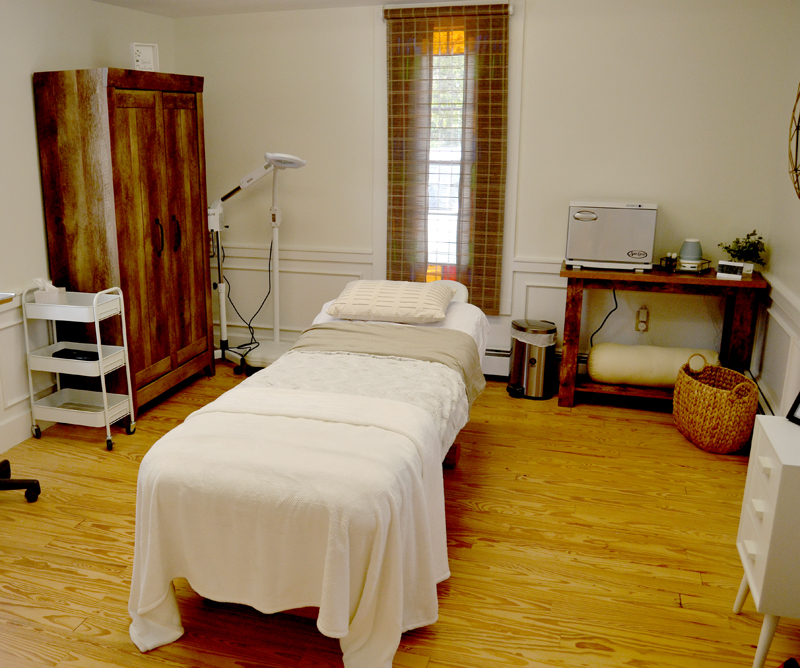 Revive Salon & Skin Care, at 202 Main St. in Damariscotta, offers a full range of skin care services, including facials, eyebrow and lash services, and body waxing. (Maia Zewert photo)