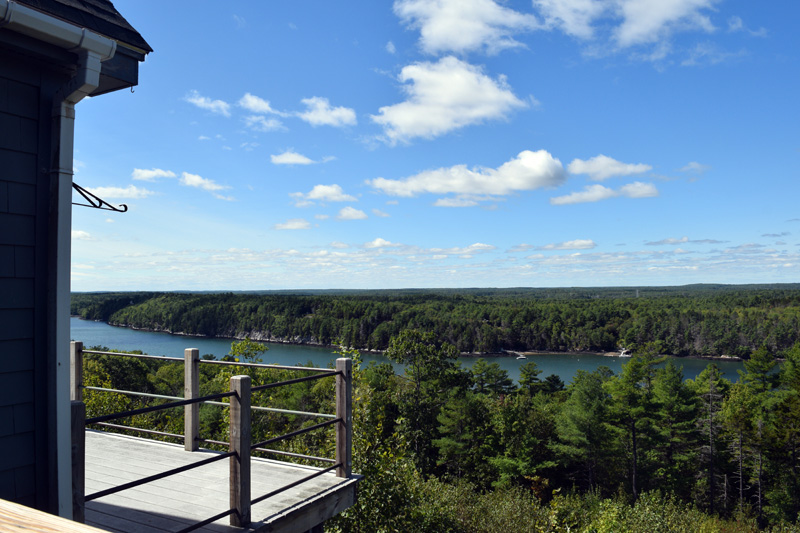 The view of the Sheepscot River from the deck of the former Deck House School in Edgecomb. (Hailey Bryant photo)