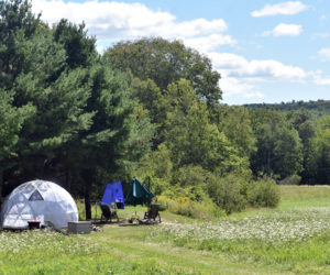 A campsite at ComfyDome in Jefferson. (Alexander Violo photo)