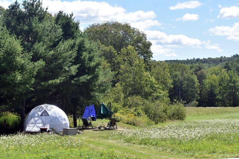 A campsite at ComfyDome in Jefferson. (Alexander Violo photo)