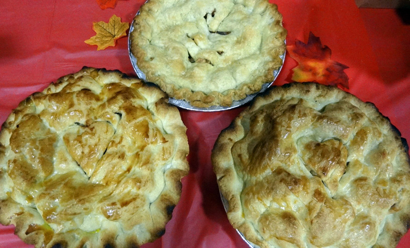Guests will be able to choose one of three different apple pies on Oct. 3.
