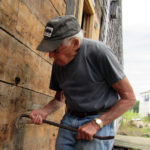 Pemaquid Mill's Front Wall Re-Shingled