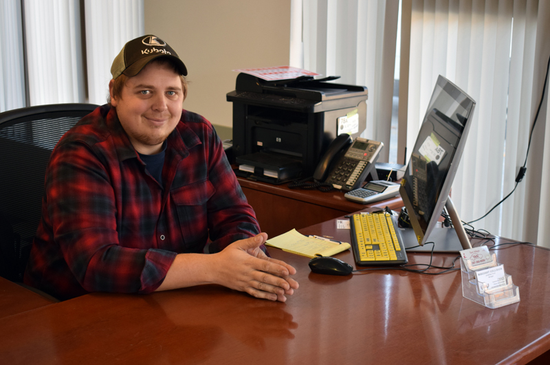 John Knof, of Damariscotta, is the manager at Midcoast Collision, formerly Scarborough's Collision, in Damariscotta. Dennis Hoppe, owner of neighboring Quick Turn Auto Repair and Towing, purchased the business effective Oct. 19. (Evan Houk photo)