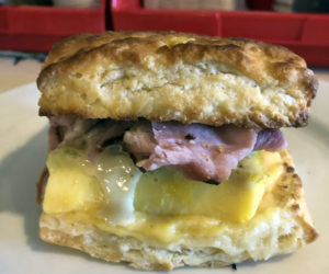 The Prep Kitchen in Damariscotta has recently added a takeout menu that includes breakfast sandwiches. (Photo courtesy Tamara Dica)