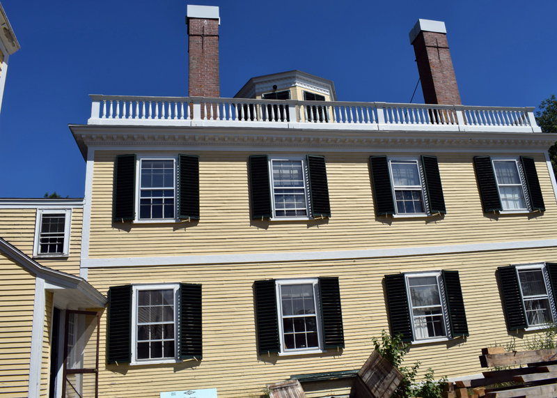 A side view of the historic Kavanagh House in the Damariscotta Mills area of Newcastle on Aug. 20. (Evan Houk photo)