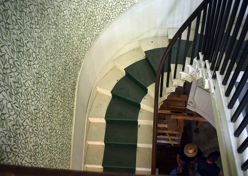 A view of the stairs to the second floor of the Federal-style portion of the historic Kavanagh House in the Damariscotta Mills area of Newcastle. (Evan Houk photo)