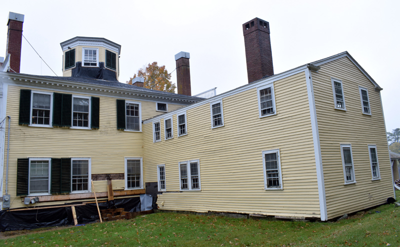 The new owners of the historic Kavanagh House in the Damariscotta Mills area of Newcastle will disassemble and rebuild the ell at right. (Evan Houk photo)
