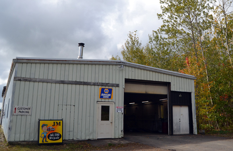 The new location of JM Automotive at 186 Fowle Hill Road in Wiscasset. (Maia Zewert photo)